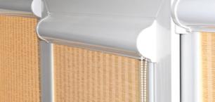 Рулонные шторы в коробе с боковыми направляющими
