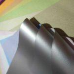 серебристое покрытие рулонной шторы