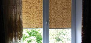 Воски ткань для рулонных штор.